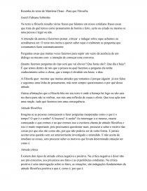 Resenha Do Texto De Marilena Chaui Resenha Josieli Sobrinho