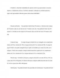 6b781bbac483b Diferenças entre Futebol e Futsal - Trabalho acadêmico - Jequélia ...