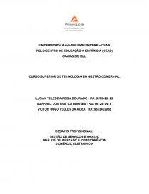 Gestao comercial - Trabalho acadêmico - vhteles 284446f8a2