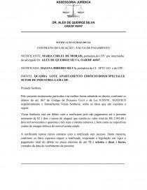 Notificação Extrajudicial Contrato De Locação Falta De