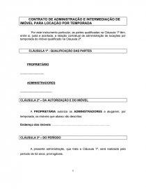 Contrato De Administração E Intermediação De Imóvel Para