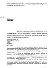 Petição Apresentação Assistente Técnico E Quesitos Ao Médico