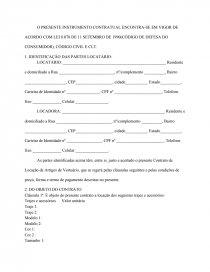 Contrato De Locação De Vestidos Trajes E Acessórios