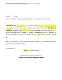 Modelo Solicitação Espaço Convenção Partidária Ensaio 252500