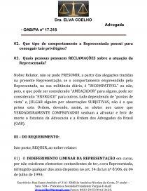 Defesa Previa Tribunal De Etica Da Oab Tese Elvacoelho