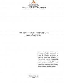 Relatório De Estágio Supervisionado Educação Infantil