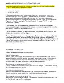 Modelo De Roteiro Para Análise Institucional Trabalho