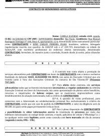 Modelo Contrato De Honorários Advocatícios Tese Uelric