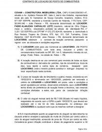 Modelo Contrato Locação Posto De Combustível Dissertação