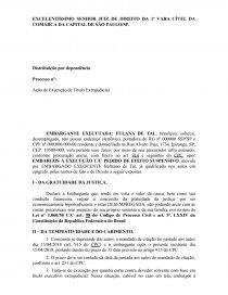 Modelo De Embargos A Execução Trabalho Acadêmico Guirabello
