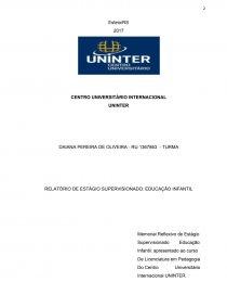 Relatório Estágio Supervisionado Educação Infantil