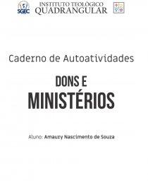 A Introdução Aos Dons E Ministérios Trabalho Acadêmico
